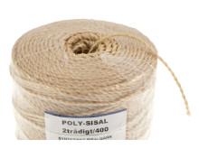 Poly-Sisal 2/400 syntetiskt sisalgarn, närbild