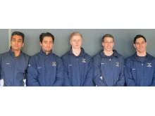 Det svenska seniorlaget i EM i manlig artistisk gymnastik i Sofia 2014