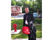 Här ser vi Fredrik Weibull under en idrottspsykologisk konferens i Paris i maj i år