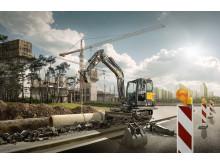 Volvo EC60E bandburen minigrävare i miljö