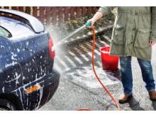 Fel - vid biltvätt på gatan