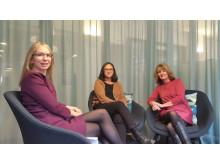 Sara Kristensson från Vuxenskolan, Nina Suatan från Bokspindeln och Annika Estassy Lovén från Vuxenskolan
