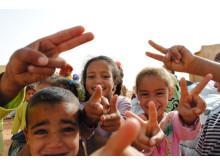 Barn i västsahariska flyktinglägren