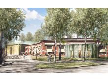 Nya Värmlands Museum öppnar 1 juni 2019. Fotomontage: White Arkitekter.