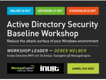 Active Directory Security Baseline Workshop Roadshow