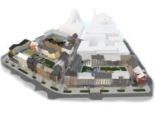 Kiruna nya centrum, kvarter 7, 8, 9, översikt