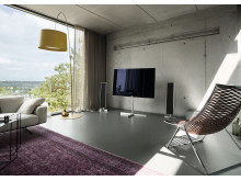 The Loewe Reference is a premium home entertainment system designed to integrate harmoniously in your living environment