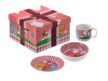 Moose Design rosa - kopp, skål og tallerken