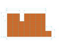 Teknisk tegning av solcelletak med terracotta takstein