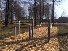 Ett av 15 hinder i Växjö Boot Camp