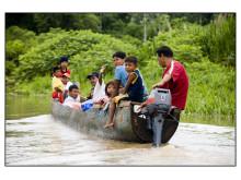 Embera familie i Panama