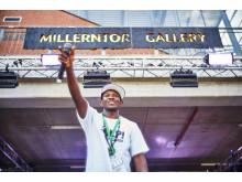 Musiker aus der ganzen Welt kommen während der Millerntor Gallery zusammen