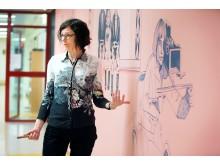 Gerd Aurell är en av de som mottagit Konstnärsnämndens femåriga arbetsstipendium 2018.