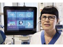 Marie Lindblad, forskningssjuksköterska på brännskadecentrum