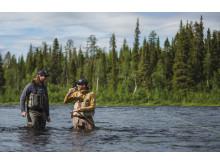 Laxfiske i Swedish Lapland