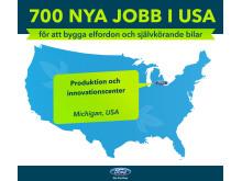 700 nya jobb i samband med satsning på anläggning i Michigan, USA.