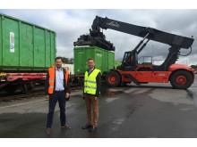 Niklas Wilandh Green Cargo och Jon Bergan Gjenvinning Downstream