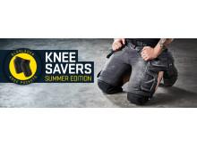 Blåkläders nya knäskyddsficka i CORDURA® stretch