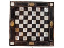 Spellåda med brädspel, 1600-tal, troligen sydtysk tillverkning, foto. ©Nordiska museet