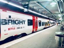 Netflix i samarbete med MTR Express, folierat tåg.