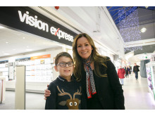 Local eye cancer survivor joins Vision Express Stafford to celebrate 20th anniversary