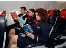 Norwegian crew reading their favourite Roald Dahl books