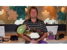 Den glade vinnaren Ulf Jansson på Quality Hotel Friends