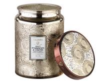 Gilt Pomander & Hinoki - Large Glass Jar Candle