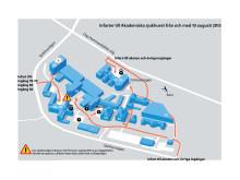 Vägavstängning Akademiska sjukhuset