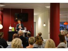 Magnus Jägerskog, Bris, föreläste på kafékväll
