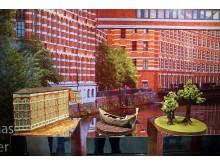 Goethe Chocolaterie - Schaustücke aus 100 Prozent Schokolade: Buntgarnwerke mit Gondel und Bäumen – gestaltet von den Konditormeisterinnen Sandra Wolf und Juliane Siedler