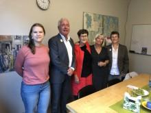 Emelie Öberg (S), Bo Frank (M), Eva-Britt Svensson (V), Carin Högstedt (V) och Cheryl Jones Fur (MP). Foto: Therese Ekdahl, Växjö kommun