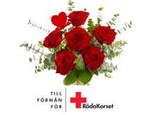 Dubbel kärlek, bukett till förmån för Röda Korset