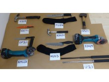 Moped-enabled burglaries - tools/weapons seized