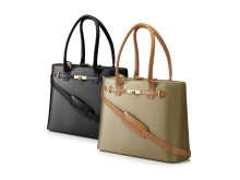 "HP 15.6"" Premium Tote (Tan and Black) Group, left facing HP20150908401"