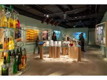 Cider på Spritmuseum - vy över utställningen