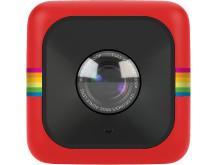 Polaroid Cube, röd framifrån