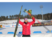Ingrid Landmark Tandrevold etter andreplass på normalprogram ungdom kvinner, Junior-VM, Minsk