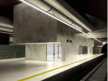 Animasjonstegning nye Løren stasjon
