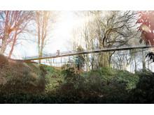 Skiss över Drottning Sofias bro