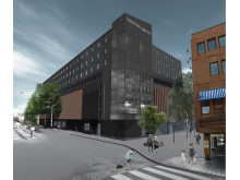 Bild. Fasad Comfort Hotel Umeå City