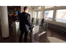 Self-service boarding gate Åre Östersund