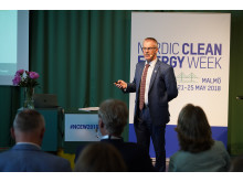Anthony Munday, Stoke-on-Trent,  talar på Nordic Clean Energy Week 2018