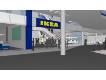 IKEA Kållered interiören när man kommer in från entrén på den västa gatunivån