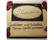 Cake celebrating The Farm Celebrity version premiere