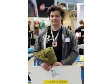 Bronsmedaljör Alexander Bech från Hahrska gymnasiet i Västerås