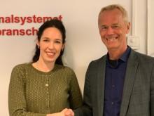 Katarina Bennich, ny CMO, tillsammans med CEO och grundare av SoftOne, Håkan Lord