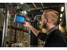 The ALGIZ 8X ultra-rugged tablet in forklift