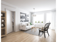 BoKlok lägenhet vardagsrum