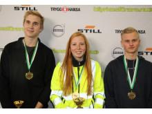Dagens medaljörer i Kvaltävling till Yrkes-SM